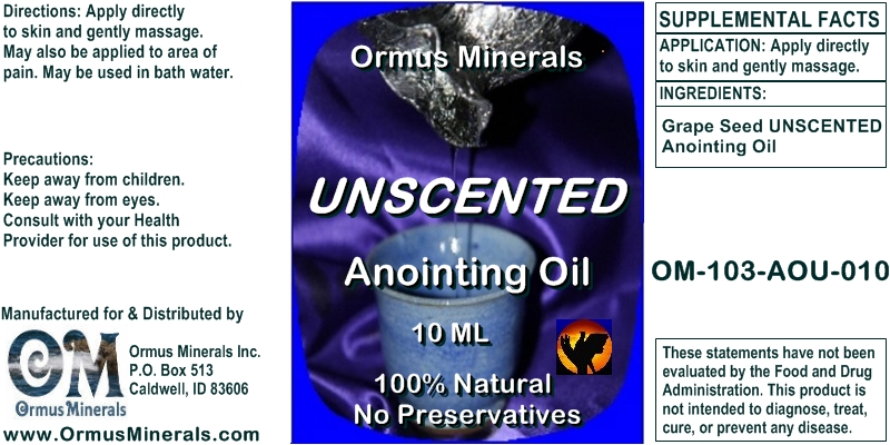 Ormus Minerals Unscented Anointing Oil 10 Ml